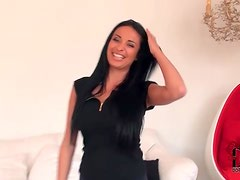 Sexy Anissa Kate strips to show her big tits