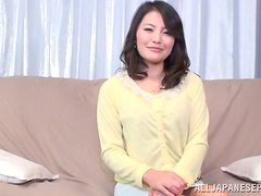 Dazzling Japanese Housewife Giving a Great Blowjob in POV