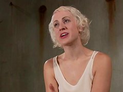 Toying and Fingering Short-Haired Blonde Dylan Ryan in BDSM Vid