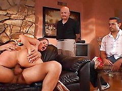 Hot wife fucking some other dude as husband watches