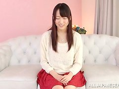 Risa Tachibana gets her bushy pussy drilled and creampied