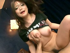 Alluring Japanese babe Yuu Haruka gets double penetrated