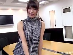 Kinky Japanese Office Lady Showing Her Panties in Upskirt Video