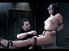 A Hot Bondage Clip With A Sexy Brunette