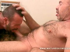 hairy daddy fuck his muscular mature friend