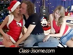Husbands gets a blonde xmas present from his wife