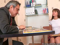 Hot School Girl Getting Fucked for Ass Cumshot by Teacher