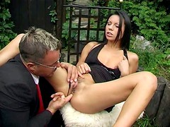 Delicious brunette Paola shows her love for anal fuck