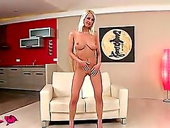 Blondie with big natural tits and very long legs Pamela Blond is before you right