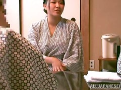 Curvy Japanese girl doesn't stop riding him even when she cums