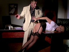New office assistant gets brutally punished by her boss
