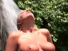 Big tittied blonde nympho Riley Evans rides on top before facefuck