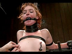 Masochist whore gets abused in BDSM scene