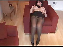 Horny Fake Tits Mature in Pantyhose and Stockings BVR