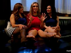 Fancesca Le and Tanya Tate Join Veronica Avluv in Foot Fetish
