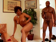 Amazing ebony harlot Imani Rose desires to be analfucked from behind