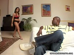 Latina fun for this big dicked black fucker