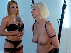 Dirty Blonde Plays Dominatrix With A Co-Worker! Suck My Pussy Bitch!
