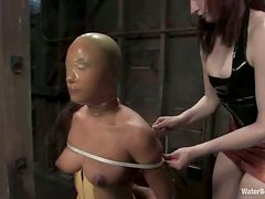 Annie Cruz gets tied up and toyed with a strap-on