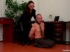 Mistress whips his ass and back roughly