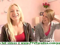 Nikkie and Aubrey gorgeous lesbian girlfriends kissing in public and packing clothes