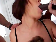 Luxury interracial bottom gangbang