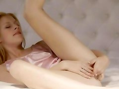 glamour with petite tits teasing pussy