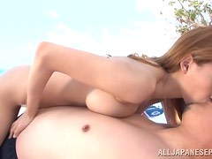 Gorgeous Japanese Claire Hasumi Having Sex at the Beach