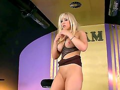 Blonde porn girl is ready to suck guys