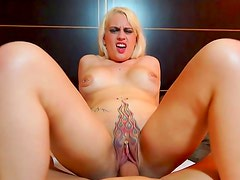 Blonde babe is eager to fuck