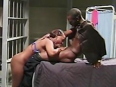 Sexy ebony is fucking in her lovely doggy style pose