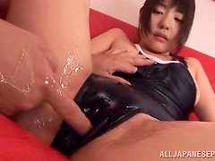 Sexy Tsubomi rubs her ass against a cock in POV video