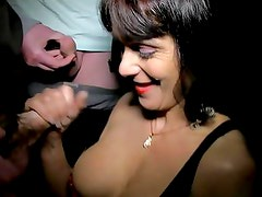 Dirty MILF outdoor dogging session