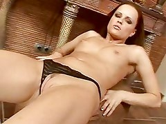 Hungarian babe Monica Sweet finger fucks her pussy hard from behind