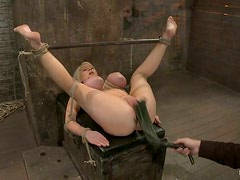 Whipping and Fingering Candy Manson's Pussy and Tying Her Big Boobs