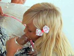 Omar Galanti gets his hard rod covered with whipped cream