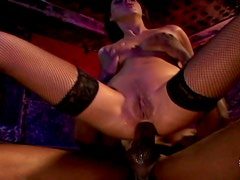 Brown-haired seductress gets anal fucked by her black lover