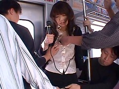 Spoiled Japanese chic gets abused by group of horny teens in train