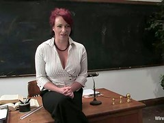 Bad teacher Nina gets tormented and fucked by her students