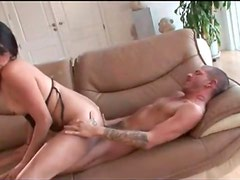 Sultry tranny BJ and hot reverse cowgirl fuck