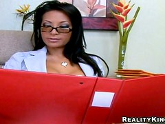 Lovely Gianna Lynn gets fucked rough in an office