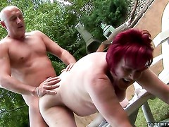 Redhead has dick-hungry beaver and takes