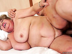 Brunette honey with giant tits has some