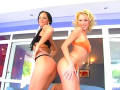 Hot FFM threesome with two stunning hotties Ginger and Angela