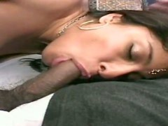 Greedy Bollywood whore fucks black and white guys