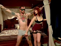 Femdom Session with Pegging Fun for Redhead Maitresse Madeline