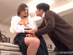 Fucking Asian Shiori Tachiba on a Desk in the Office