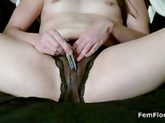 Squirting and Masturbating to Stringy Wet Orgasms