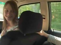attractive teen threesome in the car