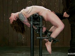 Tattooed Vivienne Del Rio Bounded for Toying and Torture
